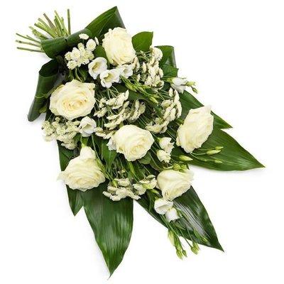 Wit rouwboeket