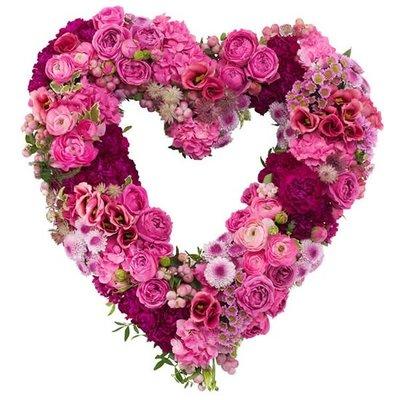 Hartvormige rouwkrans