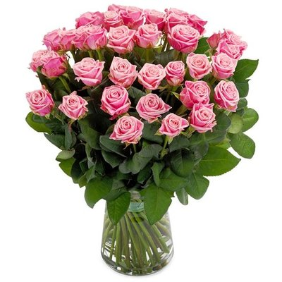 Roze rozen boeket