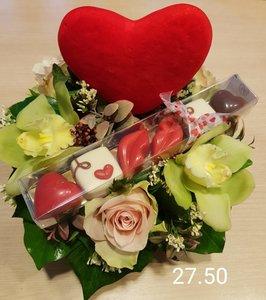 Bloemstuk Valentijn 1