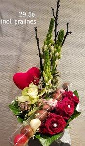 Bloemstuk Valentijn 2